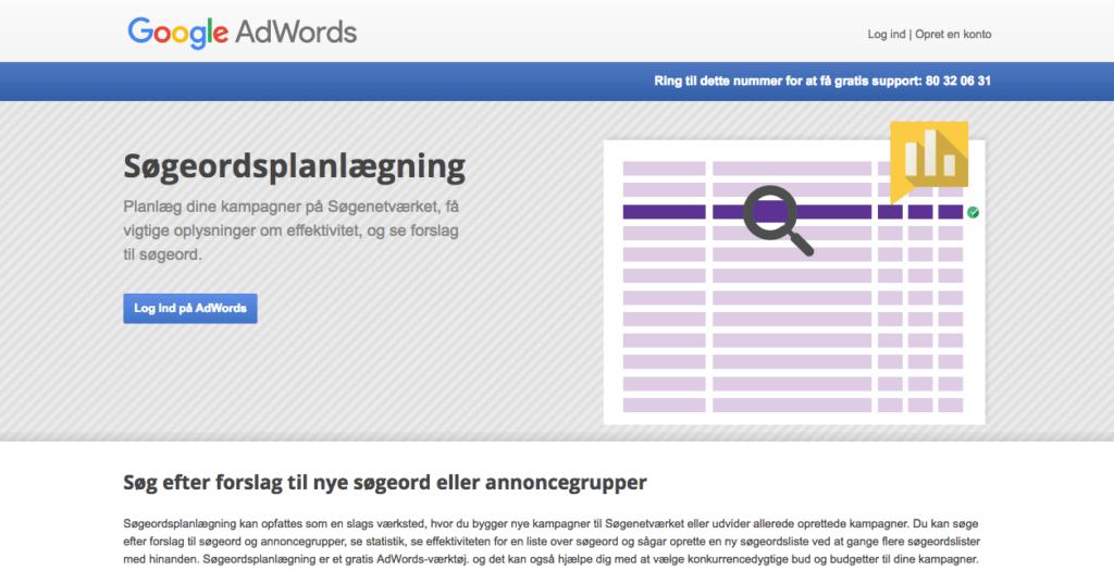 Google keyword planner - content marketing - seo