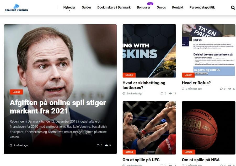 Ny portal med danske iGaming nyheder